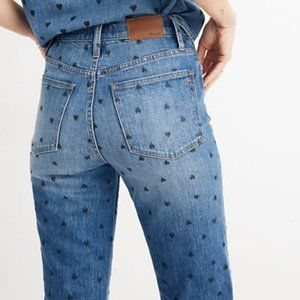 MADEWELL Classic Straight Heart Printed Jeans